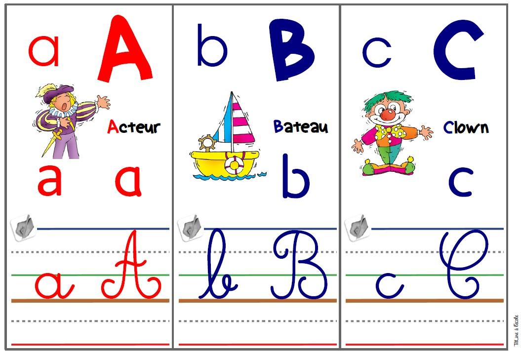 Frise Alphabet Titline à L école