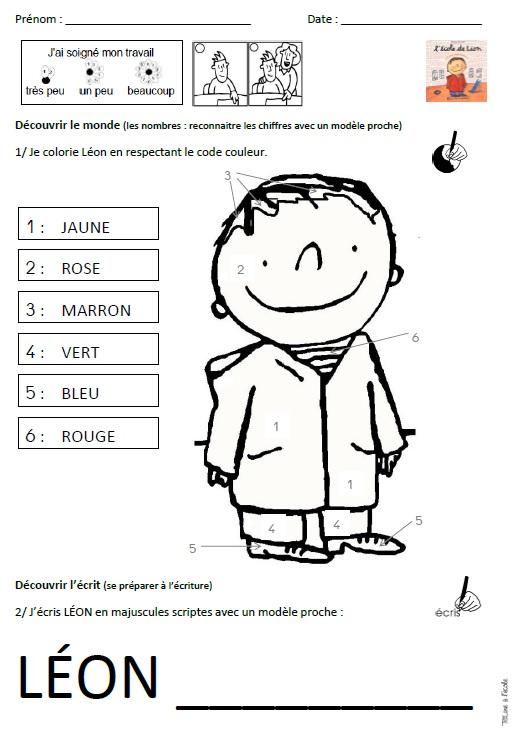 Coloriage Ecole Pdf.Album L Ecole De Leon Titline A L Ecole